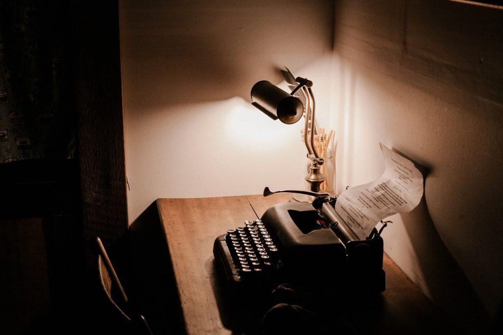 dark, room, office